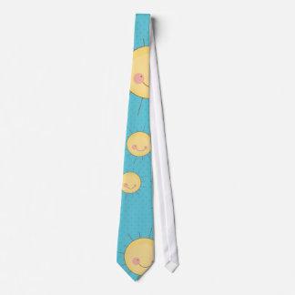 modelo soleado de los soles del kawaii feliz corbatas