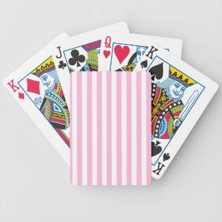 Modelo sólido de las rayas de los rosas bebés feme cartas de juego