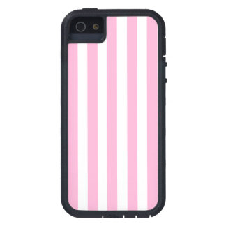 Modelo sólido de las rayas de los rosas bebés feme iPhone 5 protectores