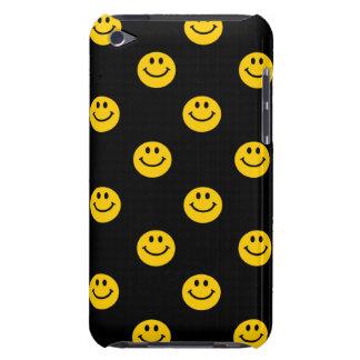 Modelo sonriente amarillo de la cara en negro Case-Mate iPod touch carcasa