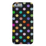 Modelo sonriente multicolor de la cara del arco funda para iPhone 6 barely there