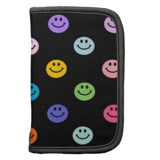 Modelo sonriente multicolor de la cara del arco ir organizadores