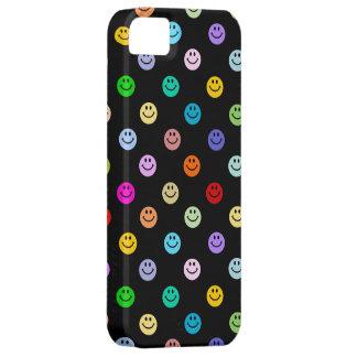 Modelo sonriente multicolor de la cara del arco ir iPhone 5 cárcasas