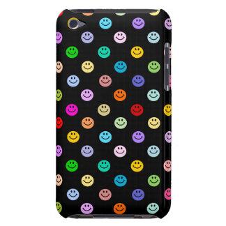 Modelo sonriente multicolor de la cara del arco ir Case-Mate iPod touch protectores