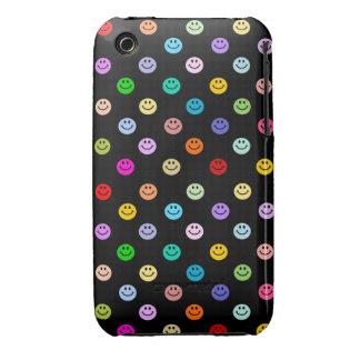 Modelo sonriente multicolor de la cara del arco ir Case-Mate iPhone 3 carcasas