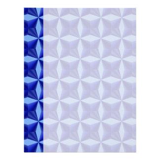Modelo soportado azul de los cuadrados membretes personalizados