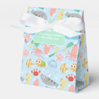 Modelo subacuático lindo, colorido de los animales cajas para detalles de boda