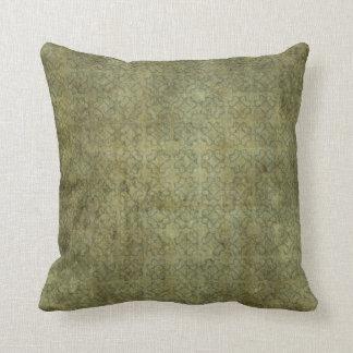 Modelo sucio del verde de musgo cojin