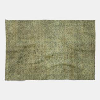 Modelo sucio del verde de musgo toalla de cocina