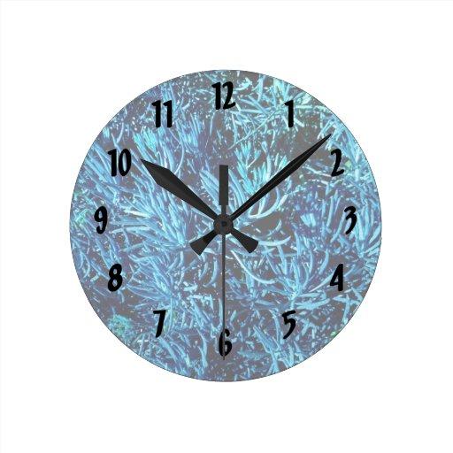 modelo suculento total del azul del extracto de lo reloj de pared