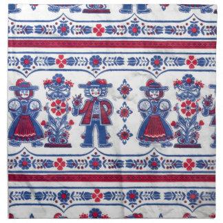 Modelo suizo tradicional del folclore servilletas imprimidas
