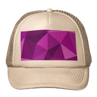 Modelo superficial de embalaje plano violeta gorras de camionero