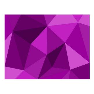 Modelo superficial de embalaje plano violeta tarjetas postales