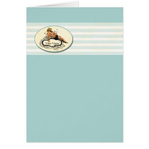 Modelo - tarjeta de felicitación