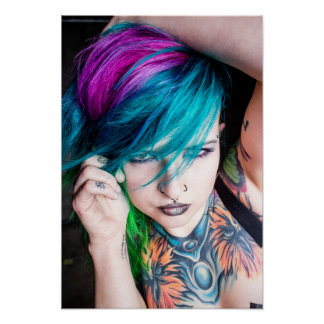 Modelo tatuado - Ashley Lynn Póster