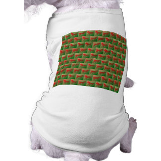 Modelo tejado de los caballos playera sin mangas para perro