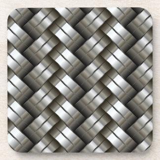 Modelo tejido del metal posavasos