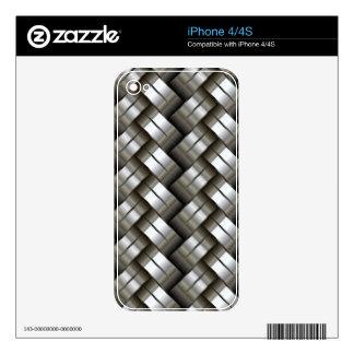 Modelo tejido del metal skins para iPhone 4S