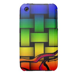 Modelo tejido moderno multicolor Case-Mate iPhone 3 cárcasa