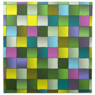 Modelo tejido mosaico moderno servilletas