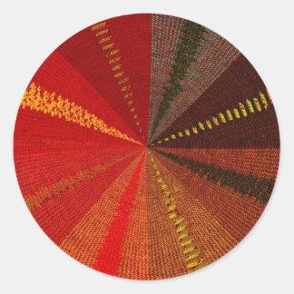 Modelo tejido pegatina redonda