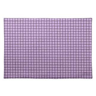 Modelo tejido retro en la pendiente violeta y gris mantel individual