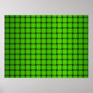Modelo tejido verde poster
