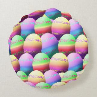 Modelo teñido de los huevos de Pascua Cojín Redondo