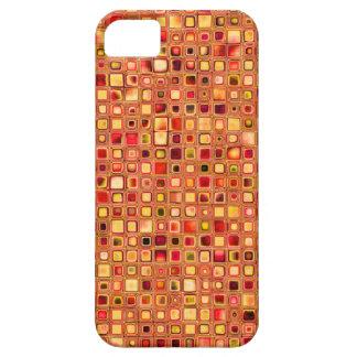 Modelo texturizado anaranjado de las tejas de mosa iPhone 5 Case-Mate funda