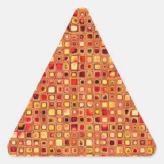 Modelo texturizado anaranjado de las tejas de mosa pegatina trianguloada