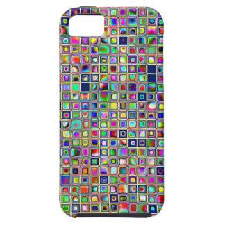 Modelo texturizado arco iris festivo de las tejas  iPhone 5 Case-Mate funda