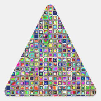 Modelo texturizado arco iris festivo de las tejas pegatina de trianguladas