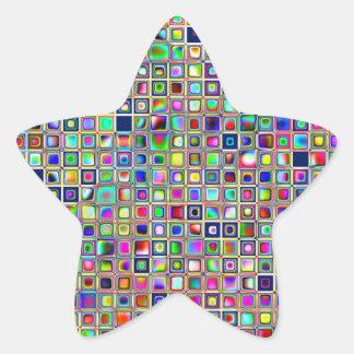 Modelo texturizado arco iris festivo de las tejas calcomanía forma de estrella personalizadas