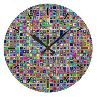 Modelo texturizado arco iris festivo de las tejas  reloj