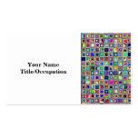 Modelo texturizado arco iris festivo de las tejas  plantillas de tarjetas personales