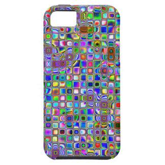 Modelo texturizado arco iris psicodélico de las te iPhone 5 fundas