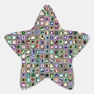 Modelo texturizado azulverde de las tejas de mosai calcomanías forma de estrella