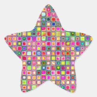 Modelo texturizado de las tejas de mosaico de los calcomanías forma de estrellas