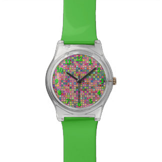 Modelo texturizado de las tejas de mosaico de los relojes de pulsera