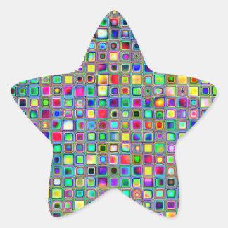 Modelo texturizado de las tejas de mosaico del ca calcomanía forma de estrella
