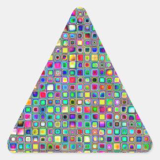 Modelo texturizado de las tejas de mosaico del ca colcomanias de triangulo