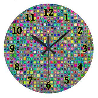 """Modelo texturizado de las tejas de mosaico del """"ca reloj de pared"""