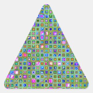 Modelo texturizado de las tejas de mosaico del en calcomania triangulo personalizadas
