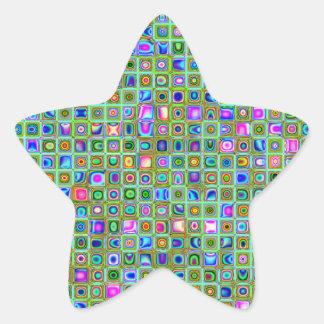 Modelo texturizado de las tejas de mosaico del en calcomanias forma de estrella