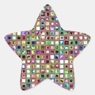 Modelo texturizado de las tejas de mosaico del Lo Pegatina Forma De Estrella Personalizada