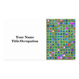 Modelo texturizado de las tejas de mosaico del tarjetas de visita