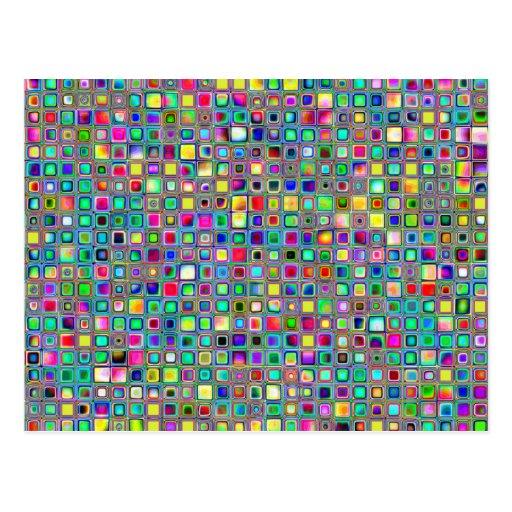 Modelo texturizado de las tejas de mosaico del tarjetas postales