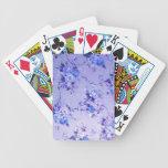 Modelo texturizado floral del azul y de la lavanda baraja