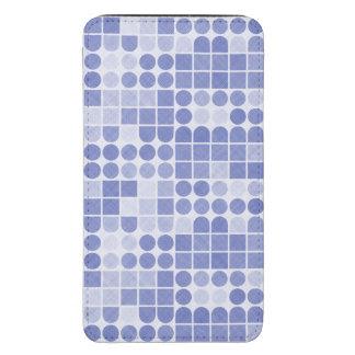 Modelo texturizado geométrico azul y blanco retro bolsillo para galaxy s5
