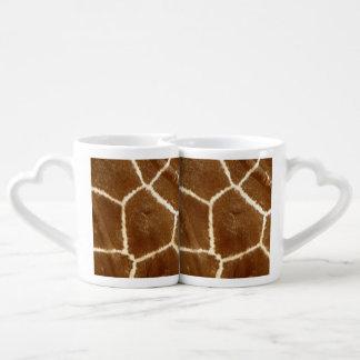 Modelo texturizado naturaleza del estampado de set de tazas de café